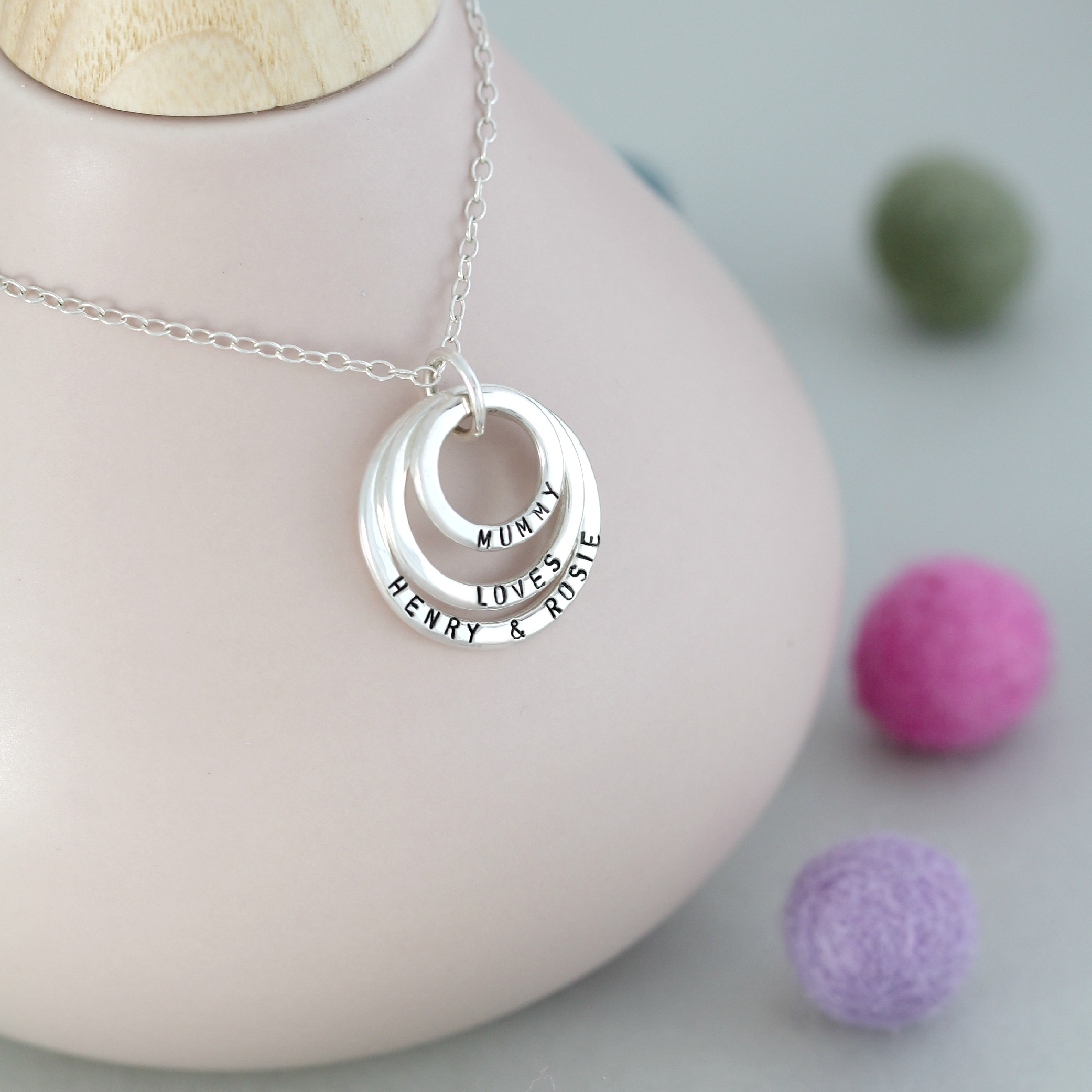 Personalised Family Names Necklace