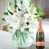 Casablanca Lily Cut Flowers & Prosecco