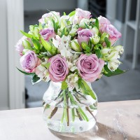 Lilac Rose & Alstroemeria Ready To Arrange