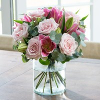Luxury Pink Rose & Lily
