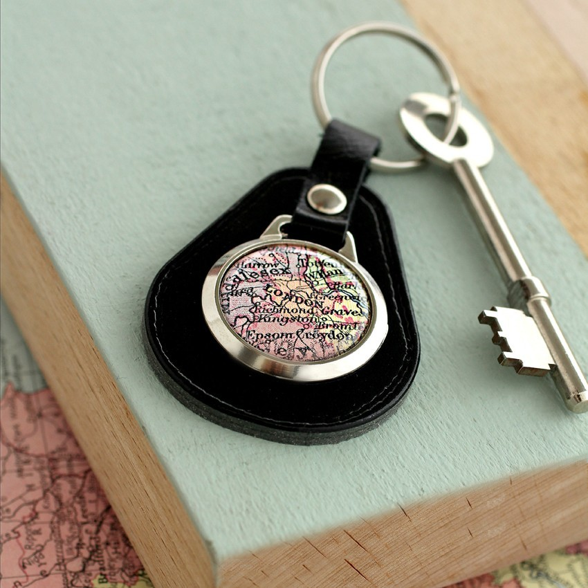 7cd92570b Personalised Leather Vintage Map Keyring - Under £20 - Shop By Price ...