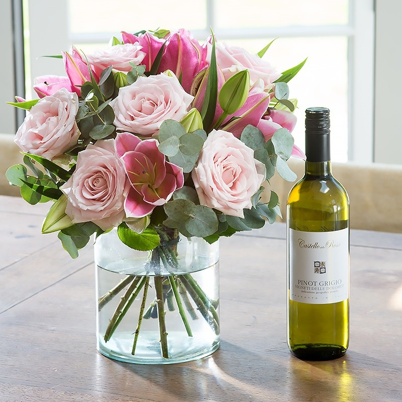 Pink rose lily with white wine mightylinksfo