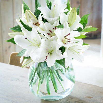 White flowers beautiful white flower bouquets blossoming gifts casablanca lily bouquet mightylinksfo