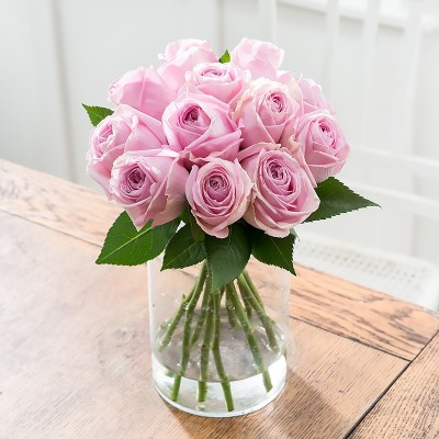 Pink flowers beautiful pink flower bouquets blossoming gifts simply 12 pink roses mightylinksfo